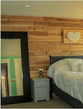 Fence board plank wall