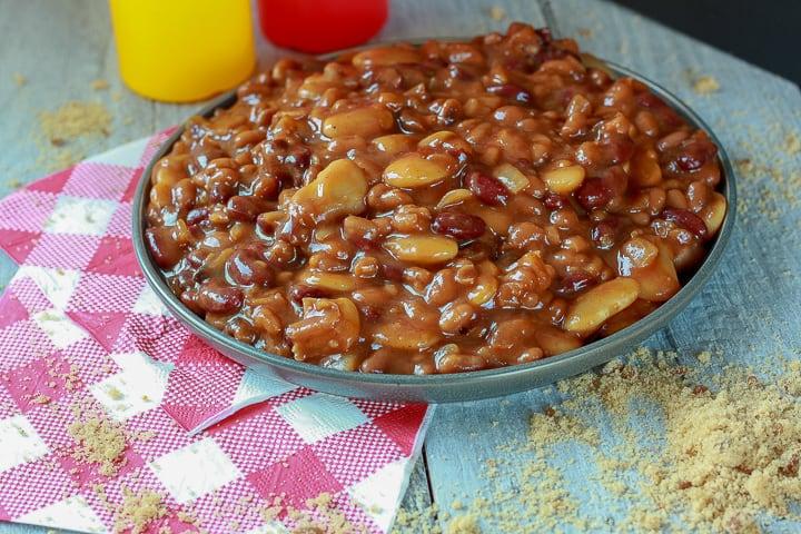 vegan calico beans