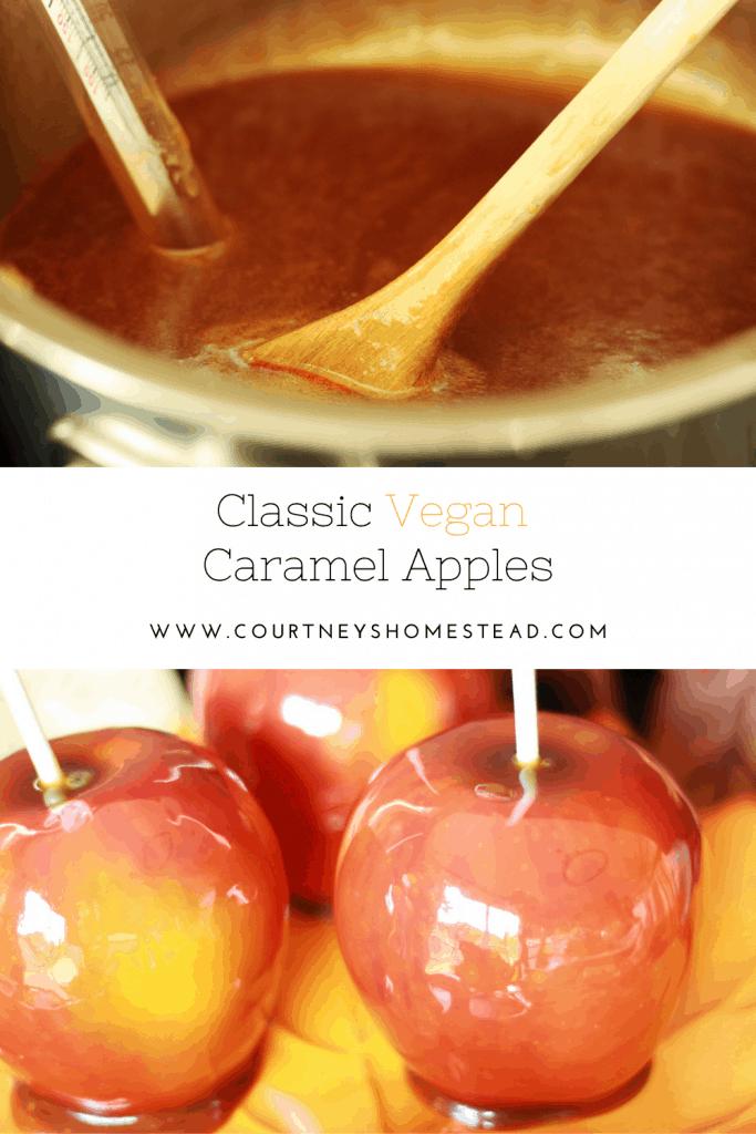 Classic Vegan Caramel Apples
