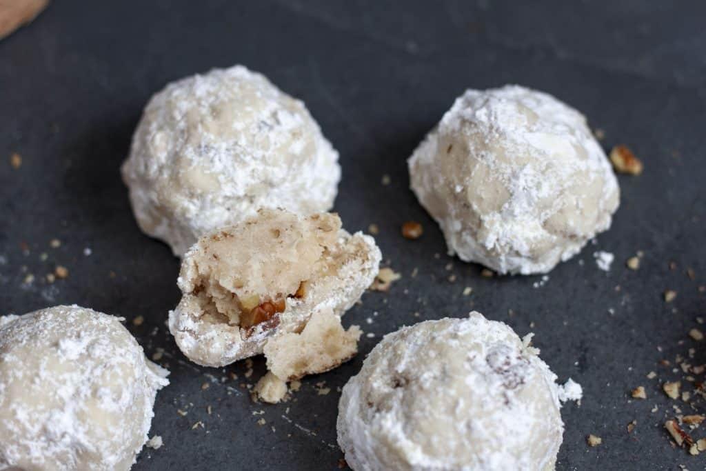 snowball cookies inside