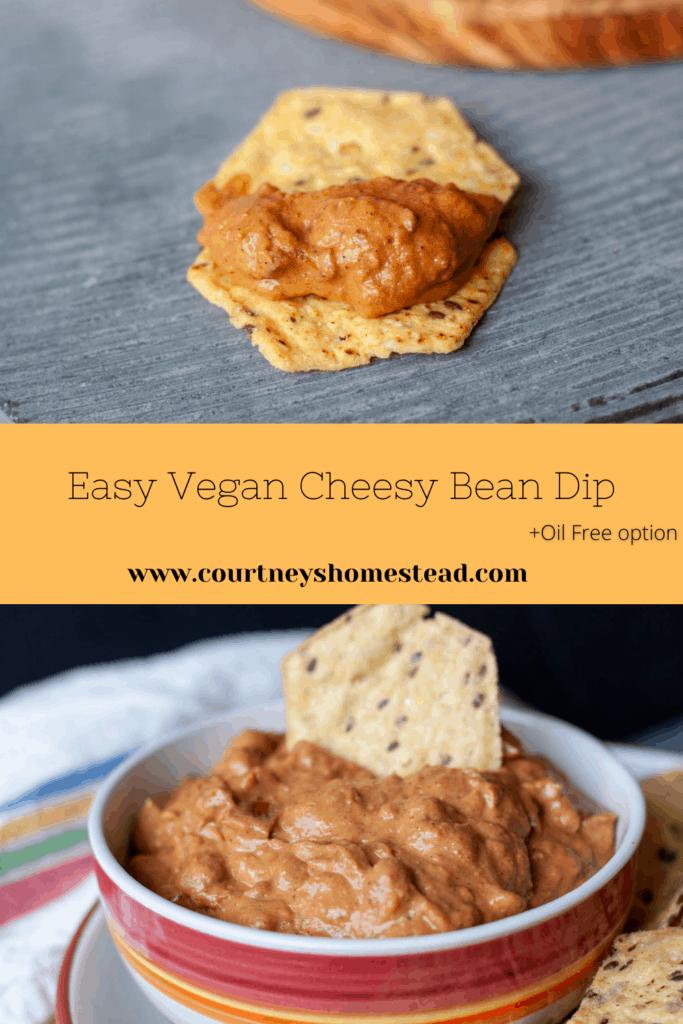 Easy Vegan Cheesy Bean Dip