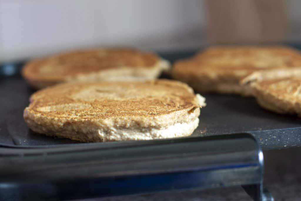 oil free pancakes cooking