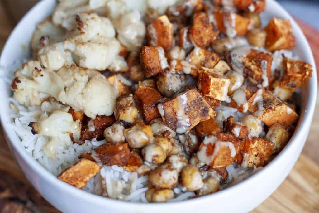 vegan sweet potato bowl
