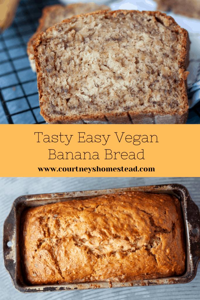 Tasty Easy Vegan Banana Bread
