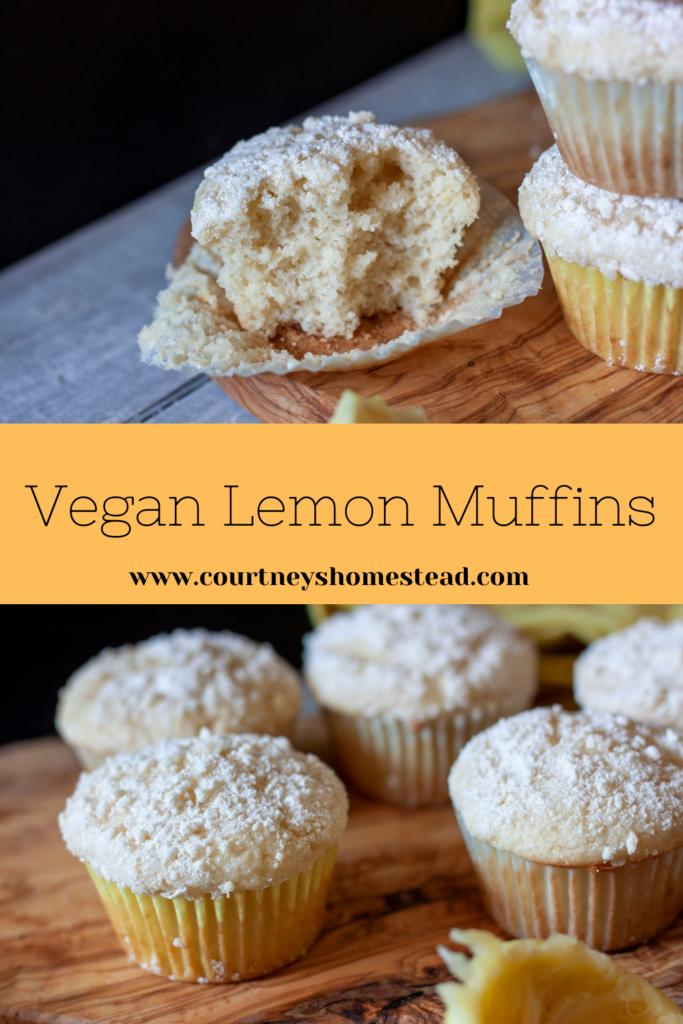 Vegan Lemon Muffins