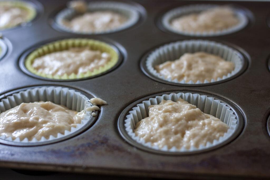 pre-cooked vegan lemon muffins