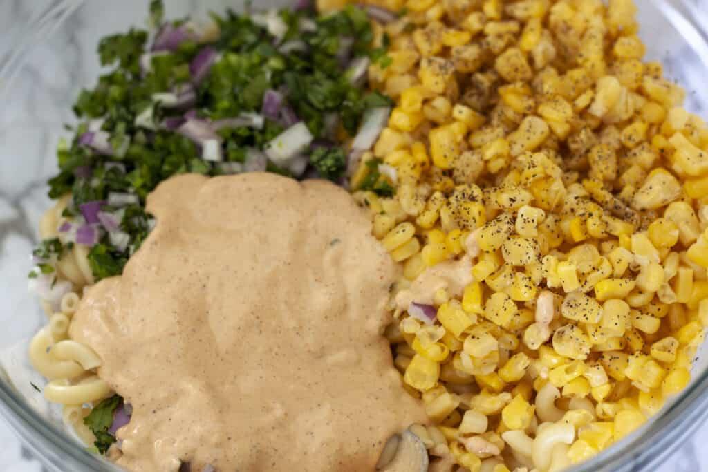 Vegan Mexican Street Corn Pasta Salad