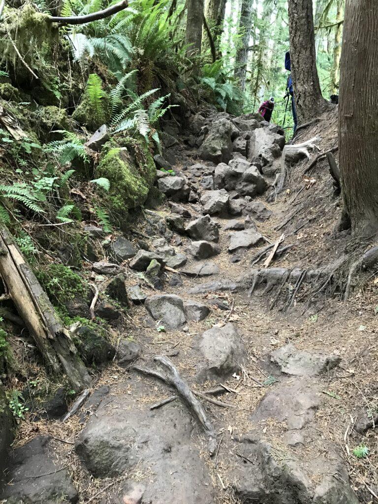 Rocky terrain hike