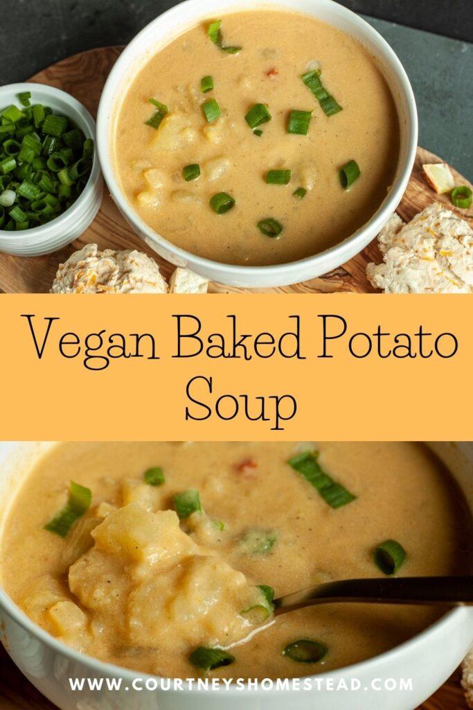 vegan baked potato soup